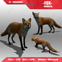 max red fox animations