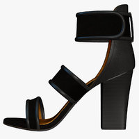 3d woman heel shoes model