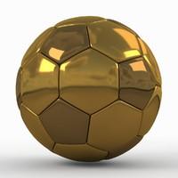 Soccerball golden