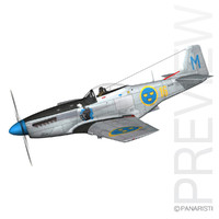 3ds max north american p-51d mustang