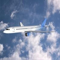 Bombardier cs300 commercial jet
