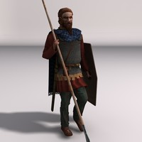 Low poly elite spearman