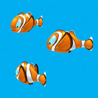 cartoon fish - clown 3d 3ds