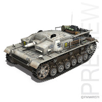 3d model stug 3 d -
