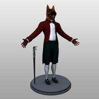 man dog human 3d model