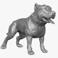 pitbull character 3d model