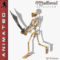3d model skeleton animation walk