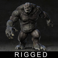 3d model troll rigged