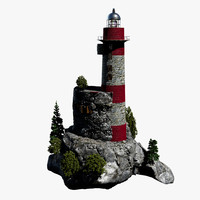 3d model lighthouse island