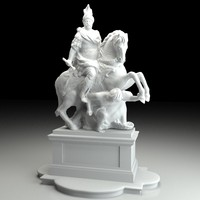 3d sculpture jan iii sobieski