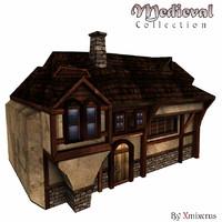 medieval house type obj