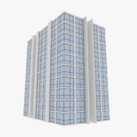 modern apartment building exterior 3d obj