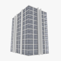 modern apartment building exterior 3d model