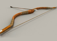 3d model old bow arrow