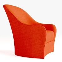 3dsmax comet chair