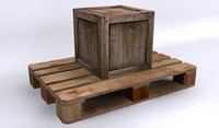 pallette pallet woodcrate 3d ma