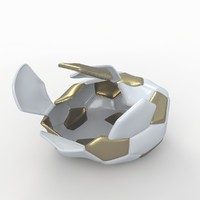 3d soccer ball white model