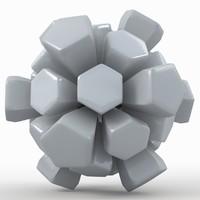 3d model soccer ball white