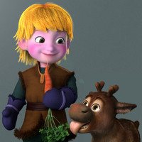 3d model cartoon boy sven