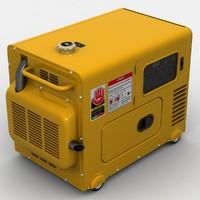 3d model of portable generator