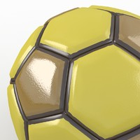 soccer ball 3d obj
