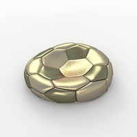 3d soccer ball model