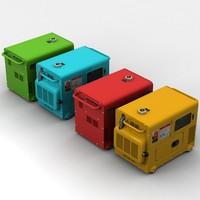portable generator 3d max