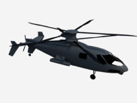 free sikorsky s-97 raider attack helicopter 3d model