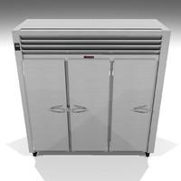 3d restaurant cooler