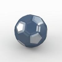 soccer ball black 3d max