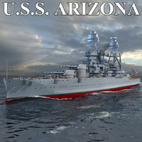 uss arizona 3d model