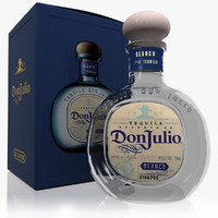 3d don julio blanco tequila model