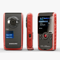 3d model samsung hmx-w190 red
