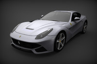 3d car ferrari f12 berlinetta model