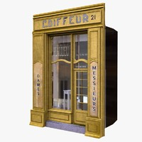france shop facade 3d lwo