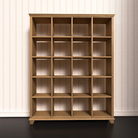 bookshelf shelf 3d model
