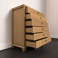 3d model of chest drawers