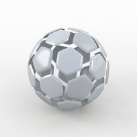 soccer ball white obj