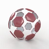 soccer ball white 3d dxf