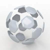3d soccer ball white