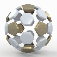 soccer ball white 3d model