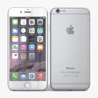 c4d apple iphone 6 silver