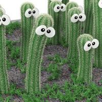 cactus smile 3d max