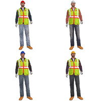 3d pack rigged worker s model