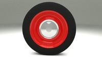 3d model generic wheel