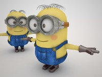 3d minion rigged - model