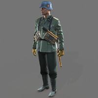 rig soldier ww2 german 3d model
