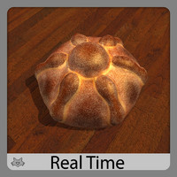 3d model pan muerto bread