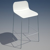 3ds max bar chair
