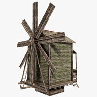 3d model windmill 3